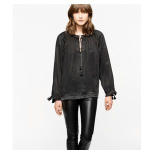 Zadig & Voltaire 'Theresa' Blouse Size XS